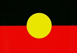 Aboriginal flag sticker